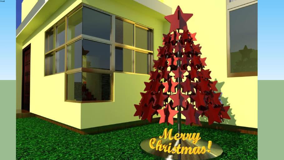 ARBOL DE NAVIDAD DE ESTRELLAS OR CHRISTMAS TREE MADE OF STARS