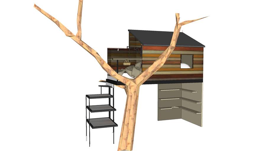 la Cabane / Lit  de Toane et Anaïs est une cabane pour une chambre d'enfant   (kids shelter cabin)