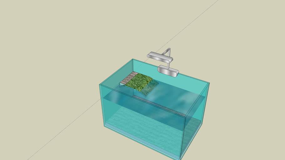 Piccolo acquario tartarughiera 22 litri