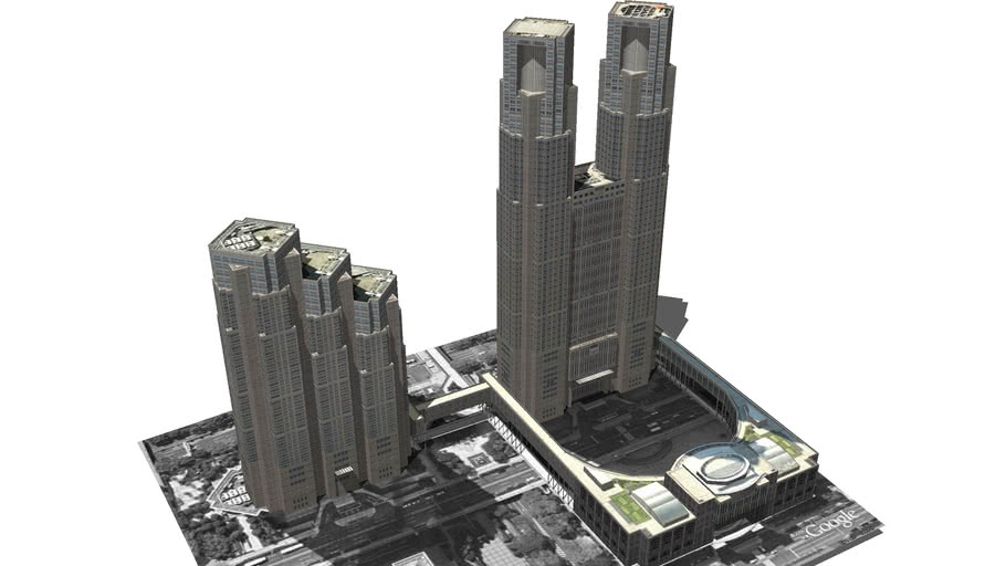 Model of the Tokyo City Hall