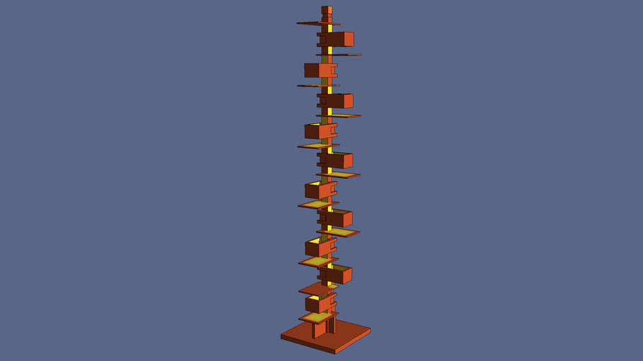Frank Lloyd Wright Taliesin 2 floor lamp - ON - Simplified