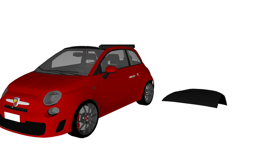 Fiat 500c ABARTH Red detailed