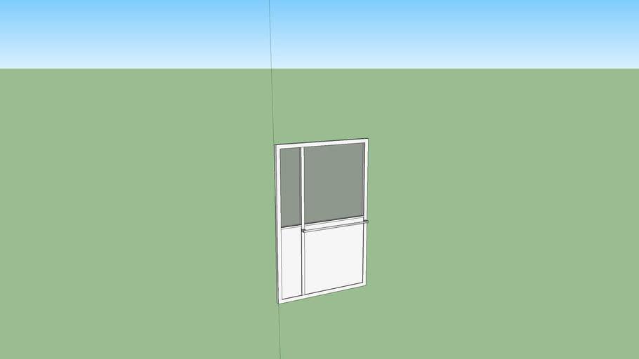 Porte d'entrée double vitrée