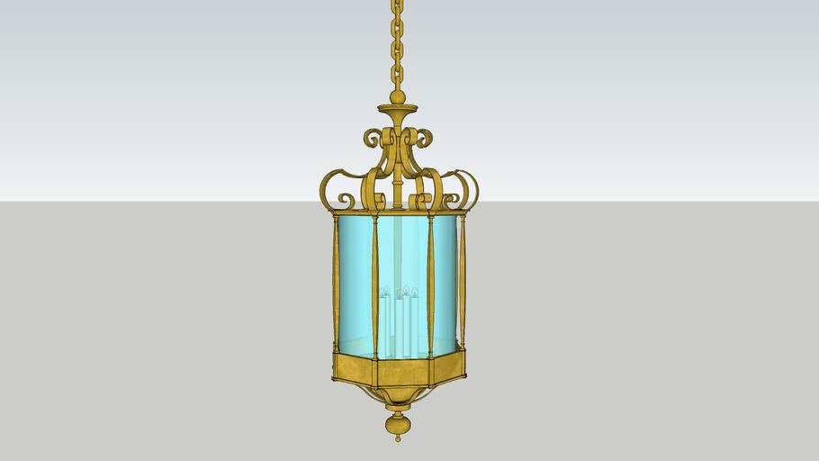 Bronze Hall Lantern
