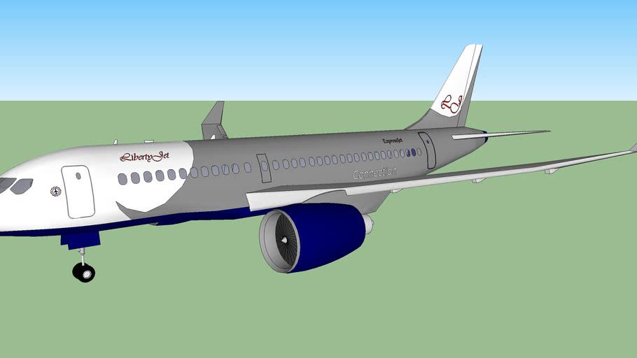 LibertyJet  CS100 operated by ExpressJet (fictional)