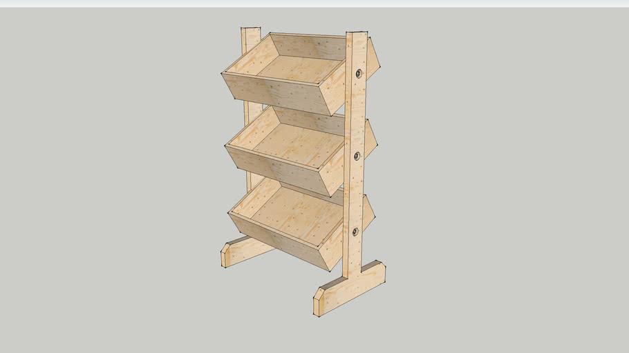 three tier floor standing unit
