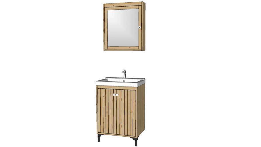 IKEA Silveran Vanity & Mirror