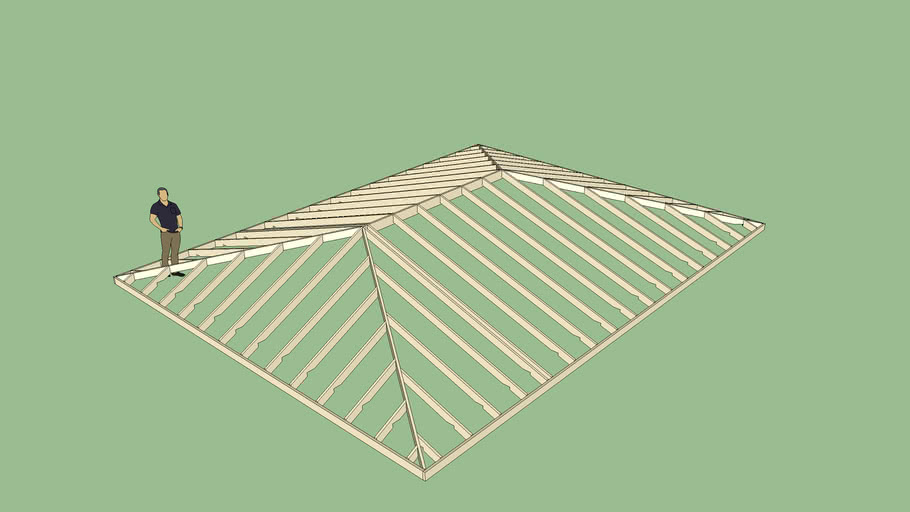 Hip Roof Dual Pitch 3d Warehouse