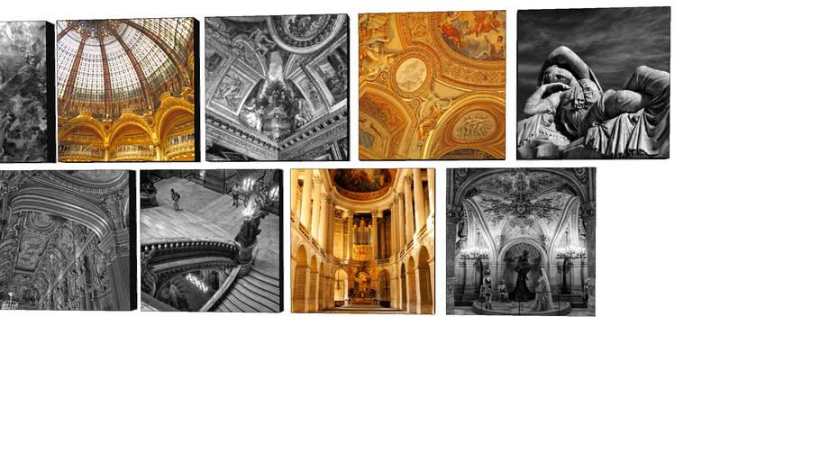 Coleção Paris Inside - Quadros Dorival Moreira