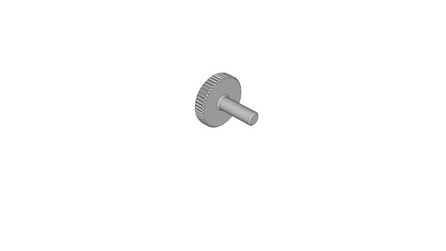 04490302 Knurled thumb screws DIN 653 - M4x12