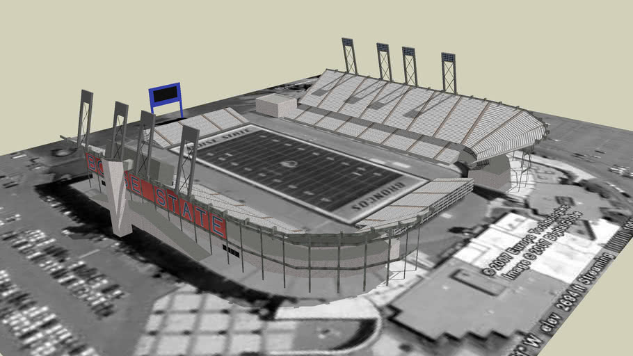 Model of Bronco Stadium