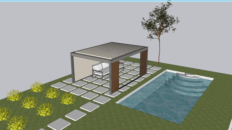 Swimming pool Camargue with Furniture & plants