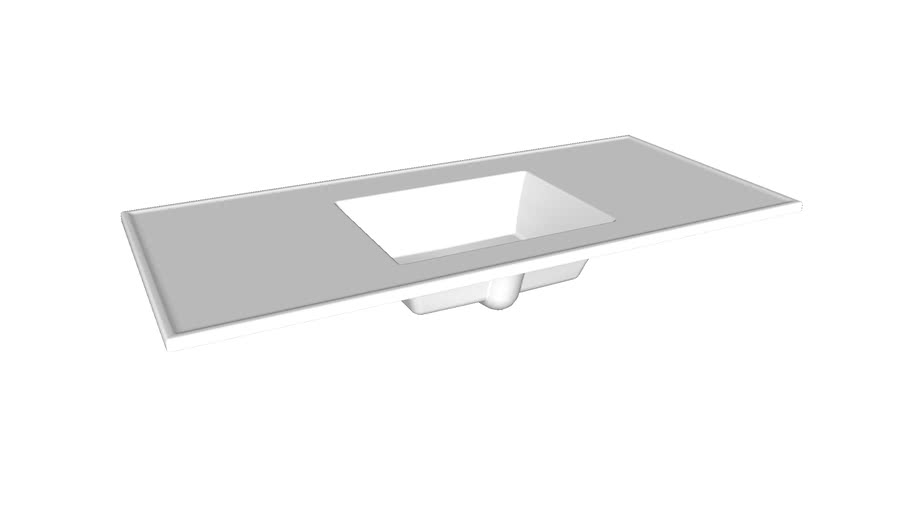 "K-2783-1 Ceramic/Impressions(R) 49"" rectangular vanity-top bathroom sink with single faucet hole"