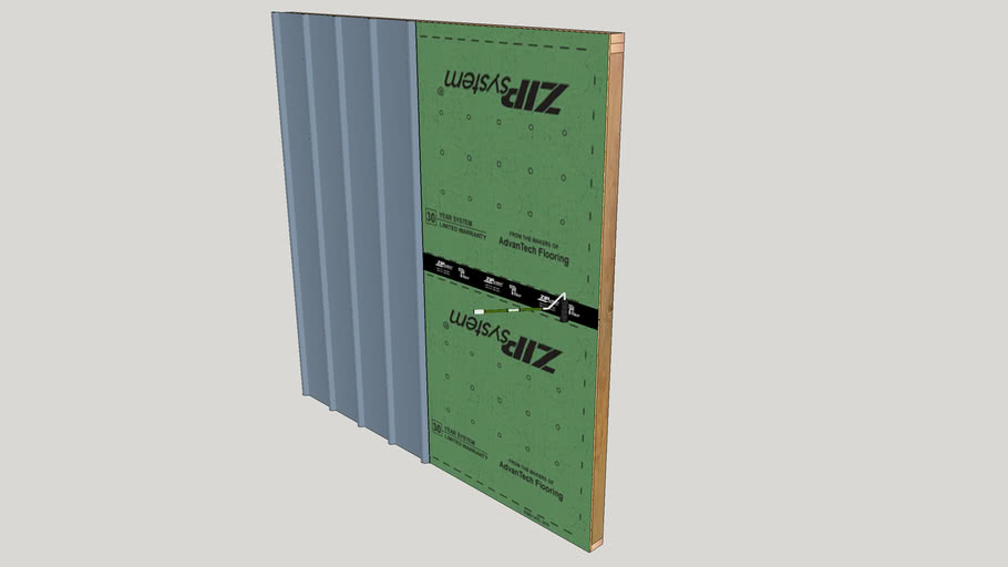 Metal Siding with ZIP System