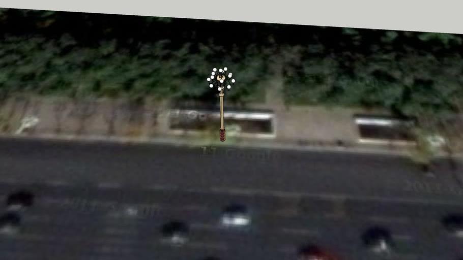 长安东大街公安部门前路北路灯6