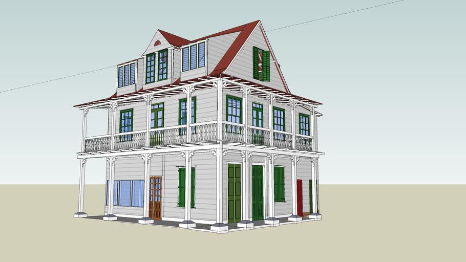 Suriname, Paramaribo, Zwarthovenbrugstraat 116