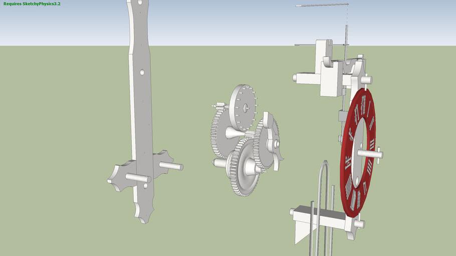 Wooden Wheel Clock