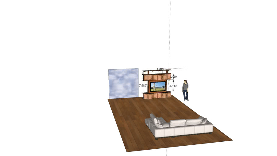 Living room plans for built in.