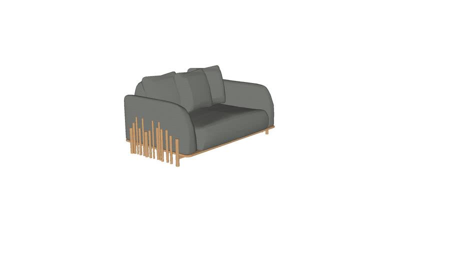 Sofa Bambu 1,6m 2BR CERCA