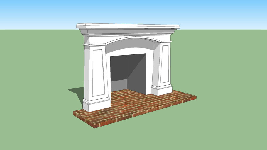Fireplace Mantle with tapered pilasters