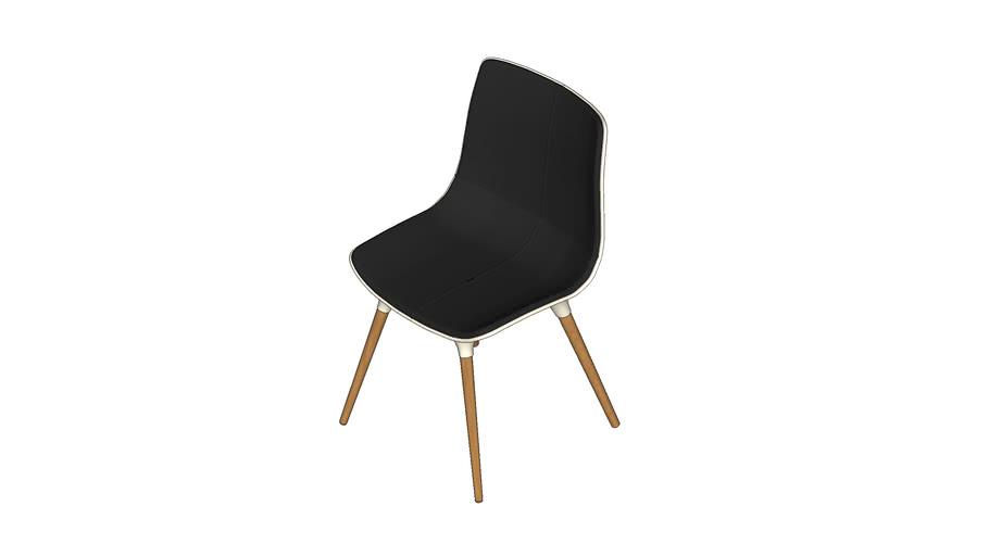 Cadeira Preto+Madeira - Marcos Silveira