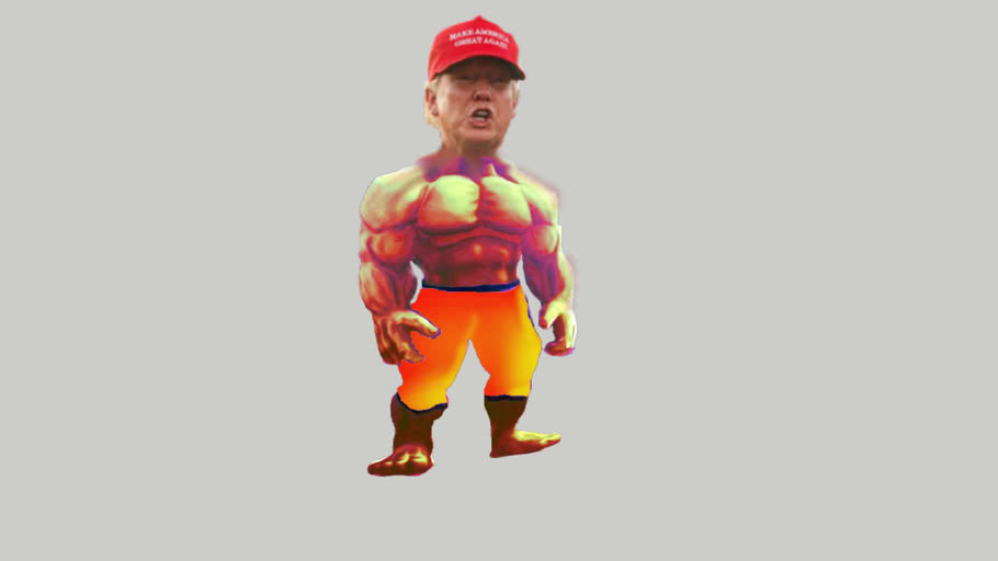 Donald Trump muscle 2d