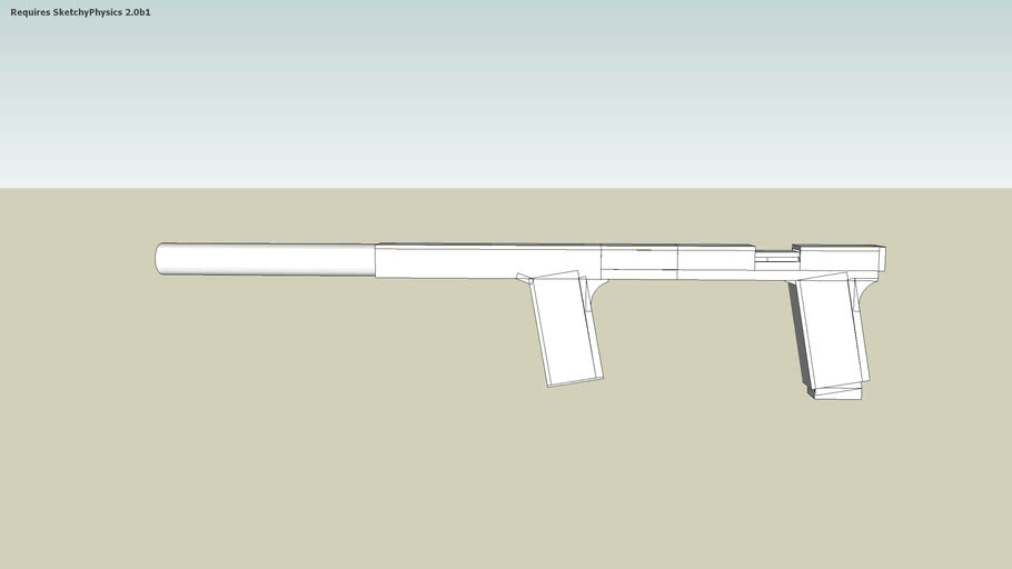 Pistol with a realistic silencer