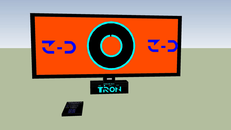 Tron 3-D Plasma Screen