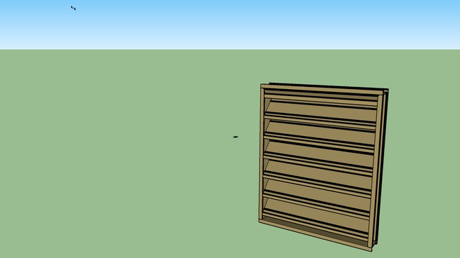 Wall Louver Model E4DS by Architectural Louvers