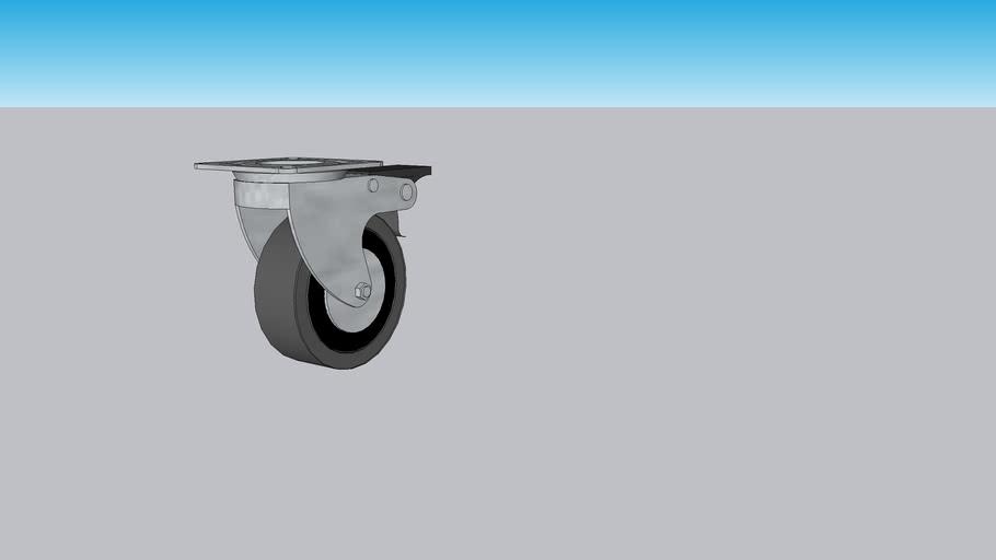 Rueda Giratoria 75 mm con freno