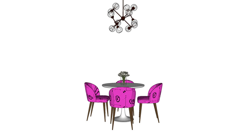 Table, chair, lamp, Стол, стул, светильник