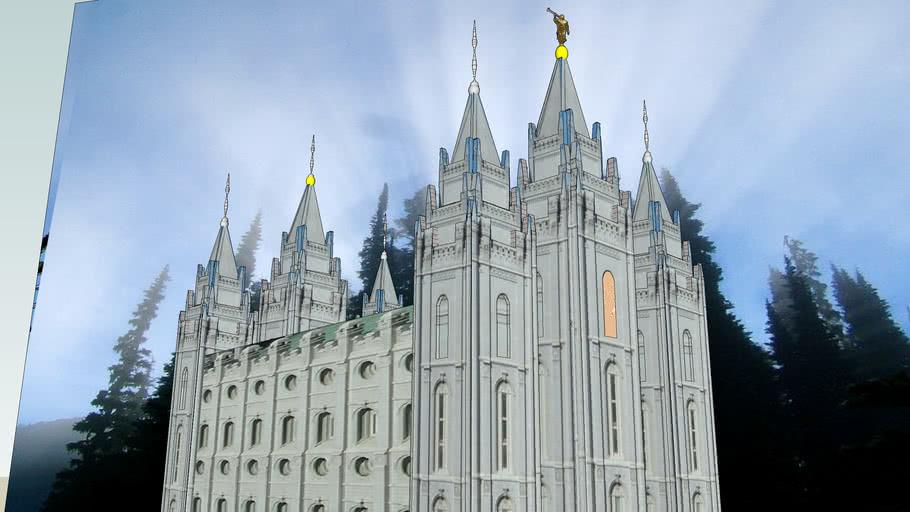 LDS. Temple Salt Lake City, Utah. Templo Mormon. 4th operating temple.