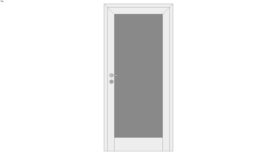Door Tall with Glass Panel - Detailed