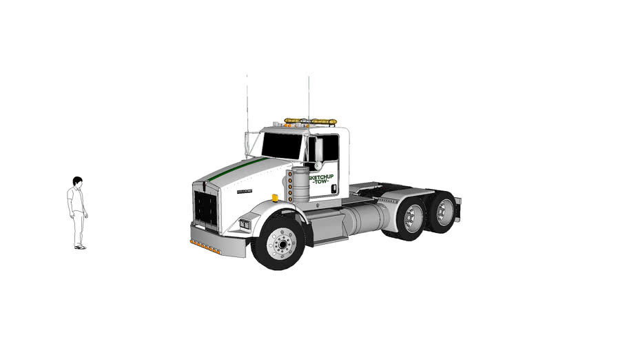 Sketchup Tow Unit 82 Kenworth Tractor