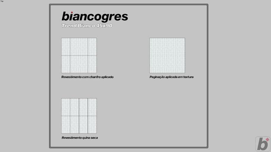 Trend Bianco 45x90
