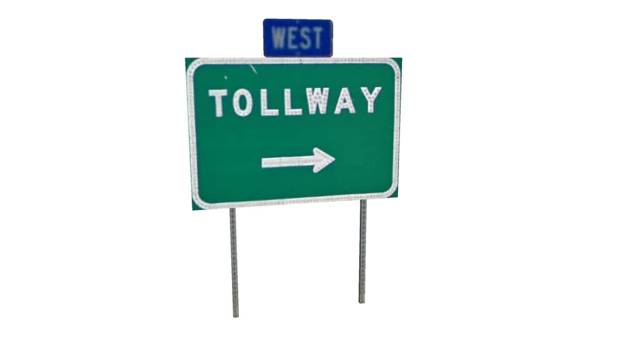 IL Tollway - Tollway Sign West Right Arrow