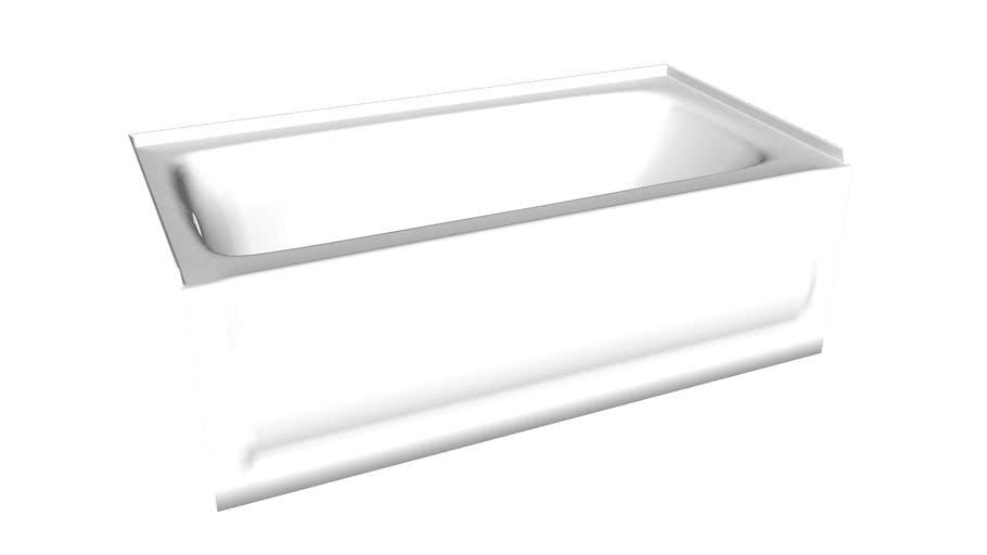 "K-1150-LA Bancroft(R) 60"" x 32"" alcove bath with integral apron, integral flange and left-hand drain"