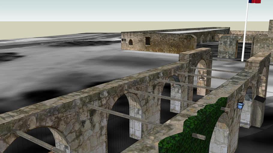 Alamo Long Barrack And Mission Walls