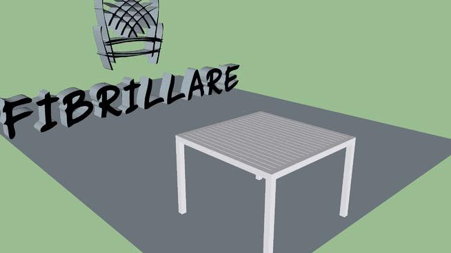 Mesa de alumínio com tampo ripado - Fibrillare Móveis