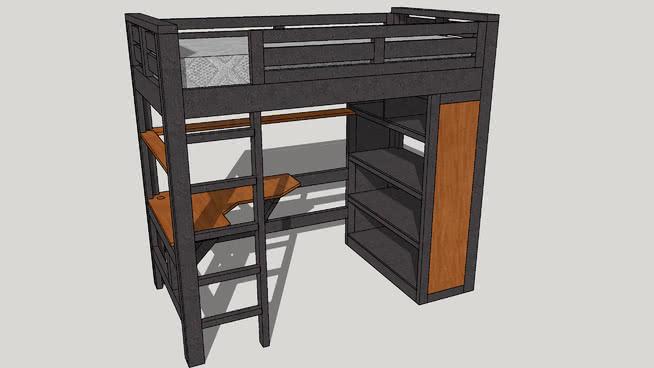 Bunk Bed Desk 3d Warehouse