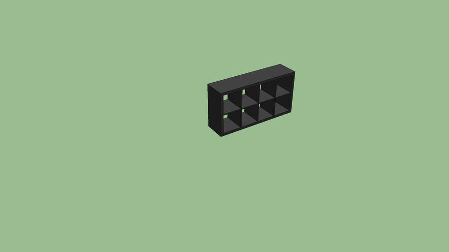 meuble casier noir