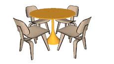 Mesa jantar circular