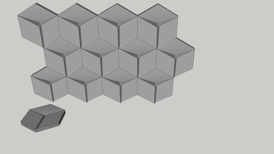 Milan - Revestimento 3D - 16,5 x 14,5