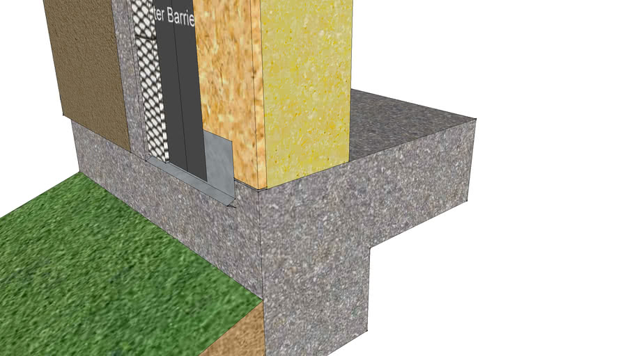 Cemplaster Fiberstucco CFD37 Detail at Grade