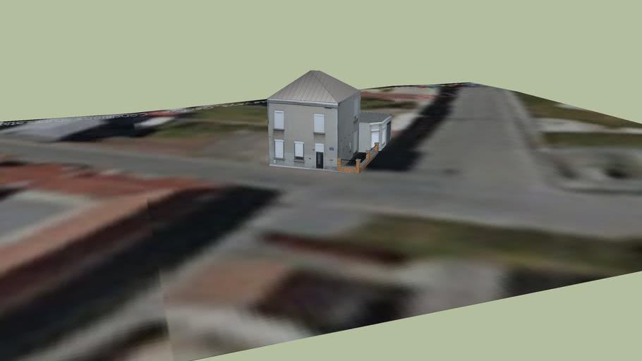 maison située au 13 rue de la Bibliothèque, 59163 Condé sur l'Escaut, Nord Pas de Calais, FRANCE