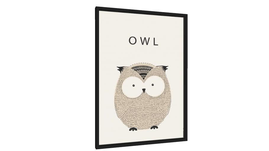 Quadro Owl - coruja - Galeria9, por Vitor Costa