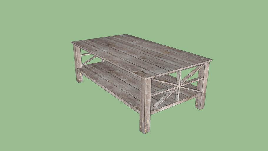 "45"" Weathered Wood Coffee Table"