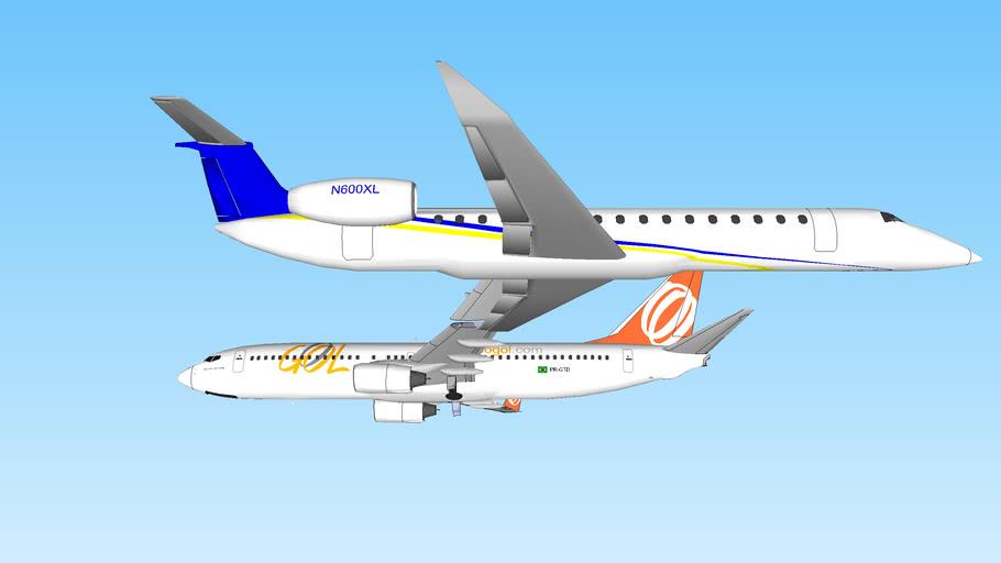Gol Flight 1907 & ExcelAire Embrear Legacy N600XL