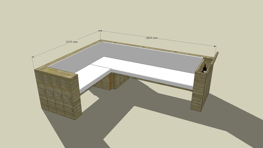 Verwonderlijk Hoekbank maken van steigerhout, loungeset op bouwtekening. KQ-91