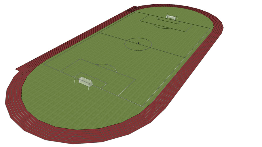 Red Track with Soccer